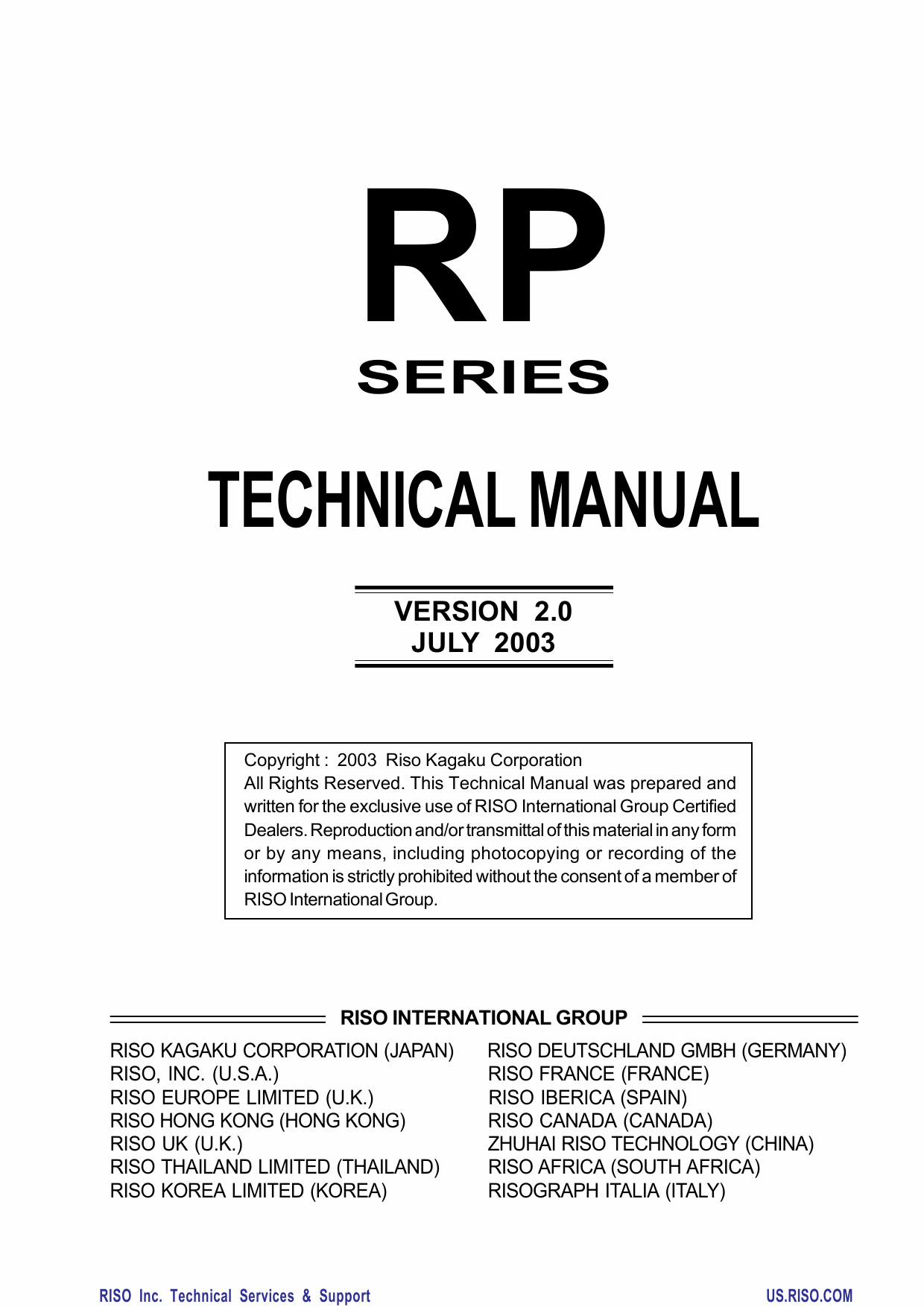 RISO RP 3100 3500 3590 3700 3790 TECHNICAL Service Manual-1